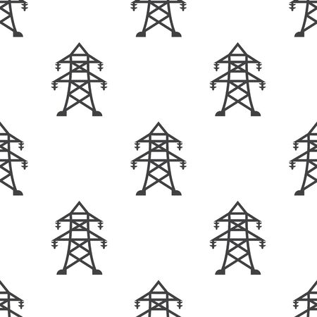 power pole: Vector illustration of electric pole icon