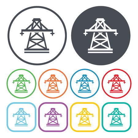 Ilustración del vector del icono del poste eléctrico