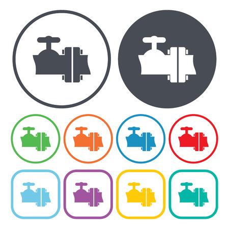 enable: Vector illustration of plumbing icon
