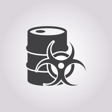radioactive radiation: Vector illustration of barrel icon Illustration
