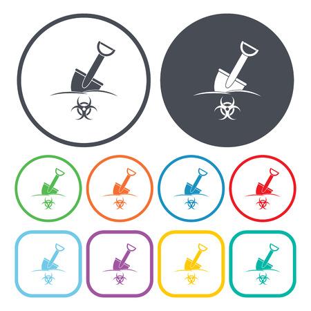 anthrax: Vector illustration of shovel icon Illustration