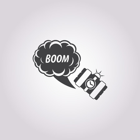 explosion hazard: Vector illustration of explosive icon Illustration