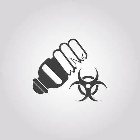 anthrax: Vector illustration of bulb icon