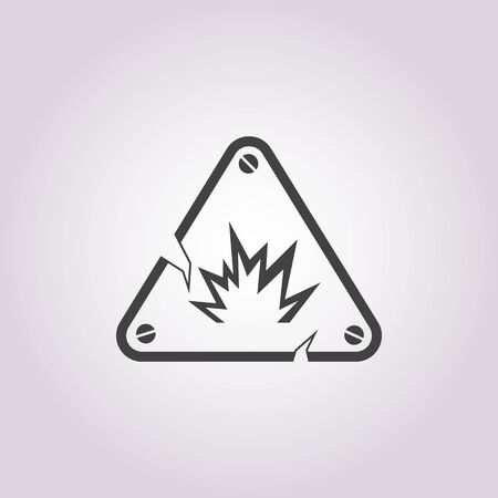 explosion vector: Vector illustration of explosion icon Illustration