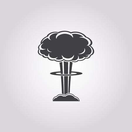 radioactive radiation: Vector illustration of explosion icon Illustration