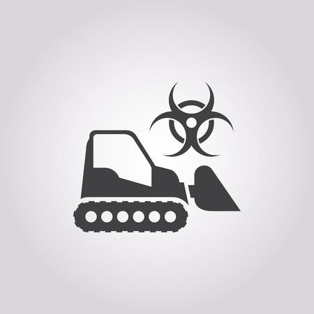 anthrax: Vector illustration of cart icon Illustration