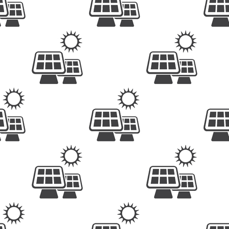 heat radiation: Vector illustration of solar battery icon