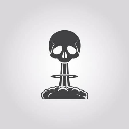 toxic cloud: Vector illustration of explosion icon Illustration