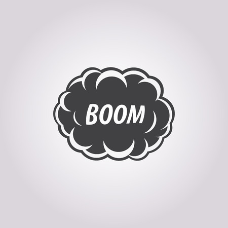 boom: Vector illustration of explosion icon Illustration