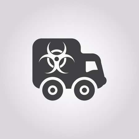 anthrax: Vector illustration of car icon Illustration