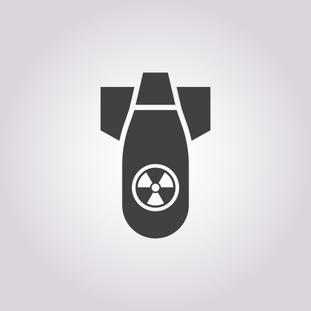 hydrogen bomb: Vector illustration of bomb icon