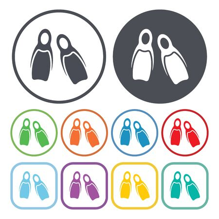flippers: Vector illustration of Flippers icon