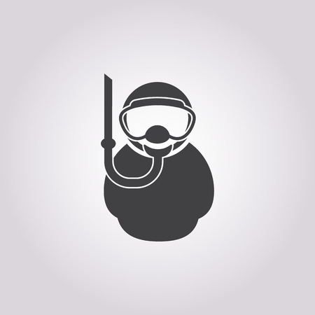 Vector illustration of diver icon