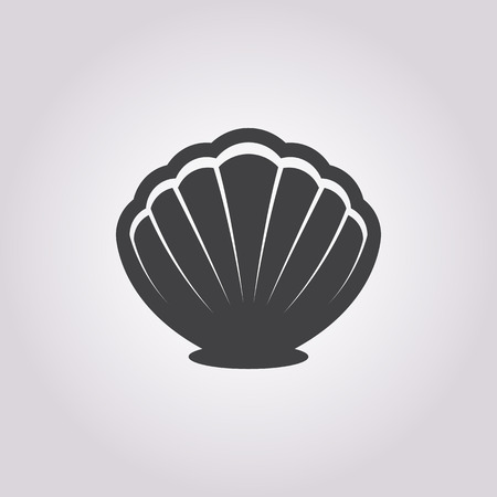 scallop shell: Vector illustration of Shell icon Illustration