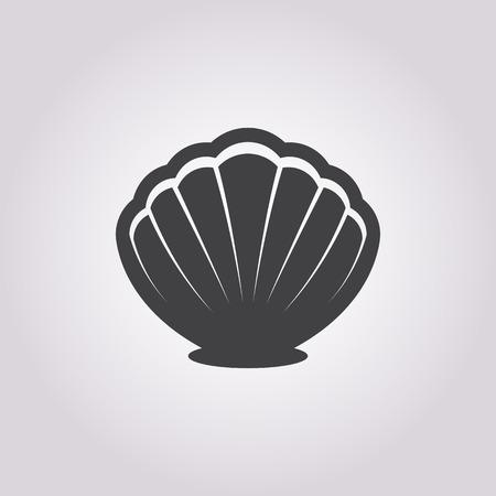 sea shell: Vector illustration of Shell icon Illustration