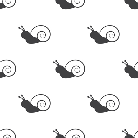 carapace: Vector illustration of snail icon Illustration