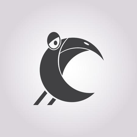 animal leg: Vector illustration of Parrot icon