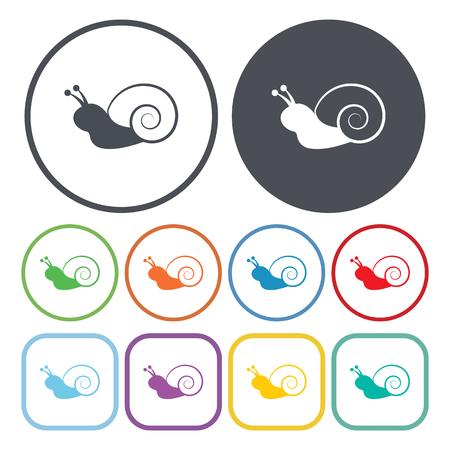 Vector illustration of snail icon Иллюстрация