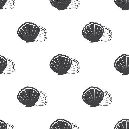 scallops: Vector illustration of Shell icon Illustration