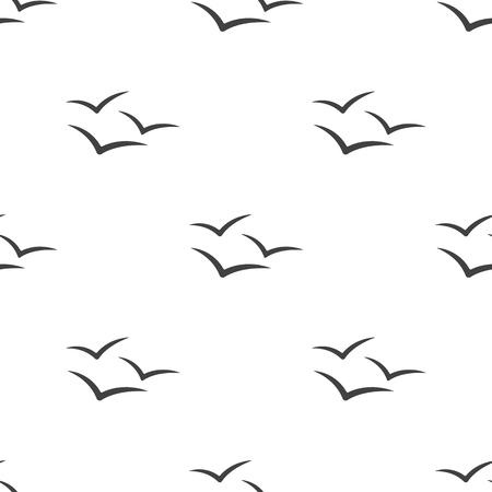 gaviota: Ilustración del vector del icono de la gaviota Vectores