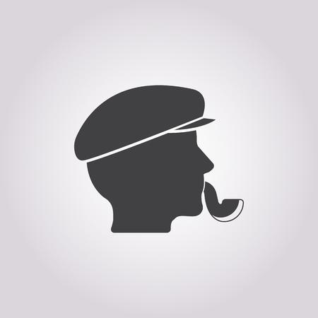 Vector illustration of Captain icon