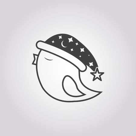 bird illustration: Vector illustration of bird    icon