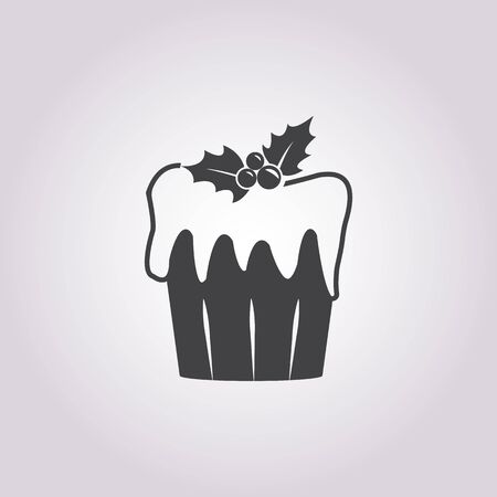 cupcake illustration: Vector illustration of cupcake    icon