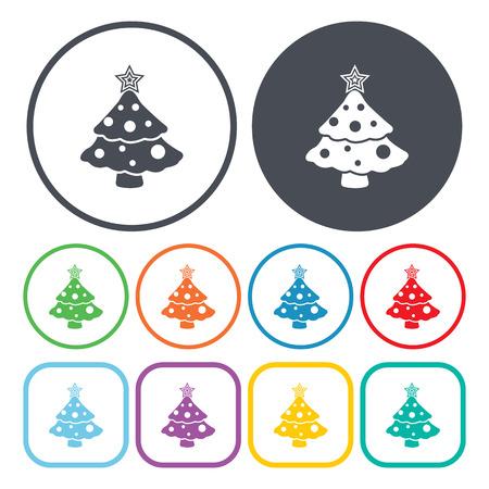 christmas tree illustration: Vector illustration of  Christmas tree   icon