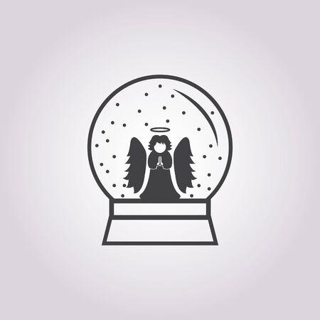 angel: Vector illustration of  angel   icon Illustration