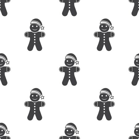 gingerbread person: Vector illustration of gingerbread  icon
