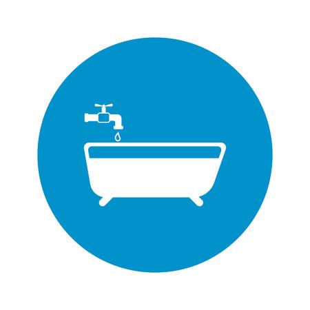 Illustration of vector washroom icon