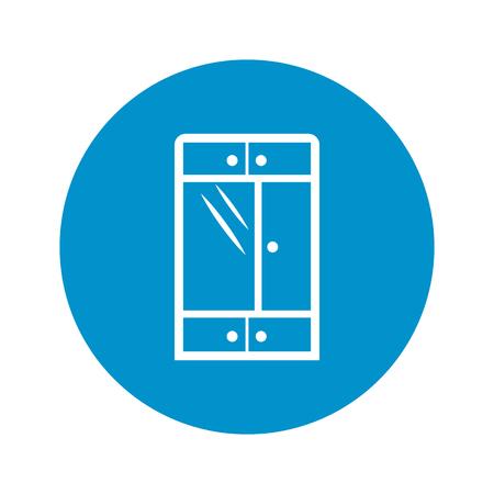 cupboards: Illustration of vector cupboard icon