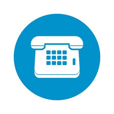 telephone icon: Illustration of vector phone icon Illustration