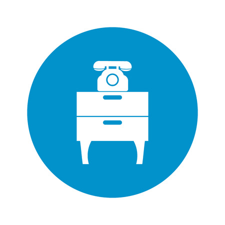 commode: Illustration of vector commode with phone icon