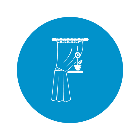 drapes: Illustration of vector curtain icon