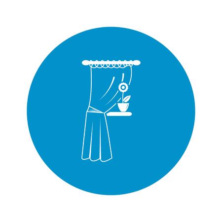 Illustration of vector curtain icon