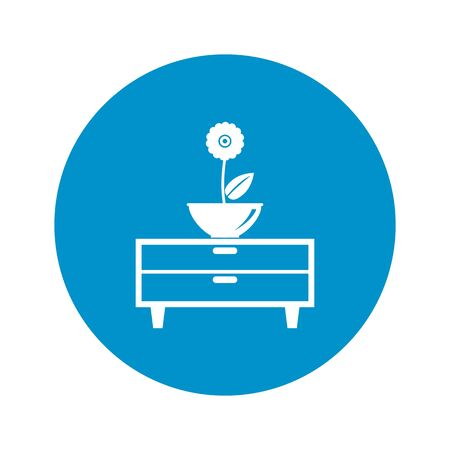 commode: Illustration of vector commode wint flower icon