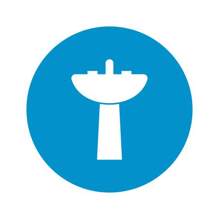 washbowl: Illustration of vector washroom icon