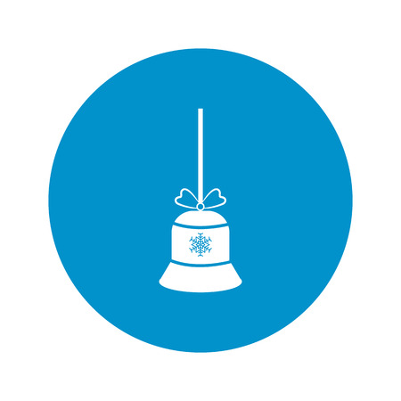 christmas bell: Vector illustration of bell     icon
