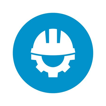 helmet: Vector illustration of  helmet  icon