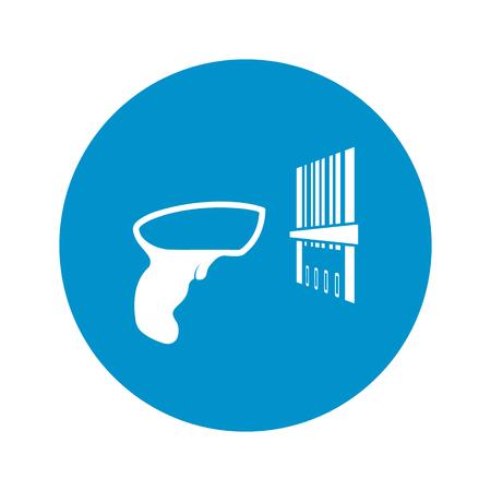 Vector illustration of   bar code icon Illustration