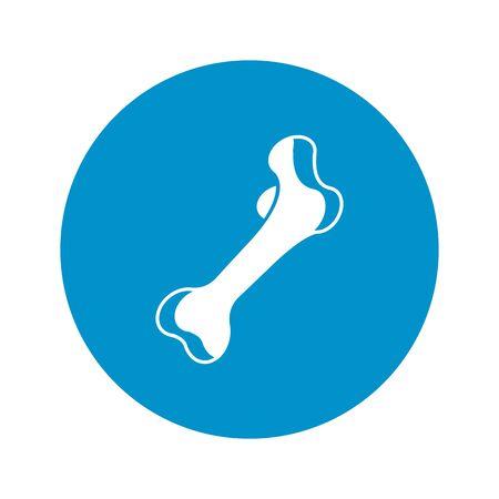 bone: Vector illustration of  bone  icon