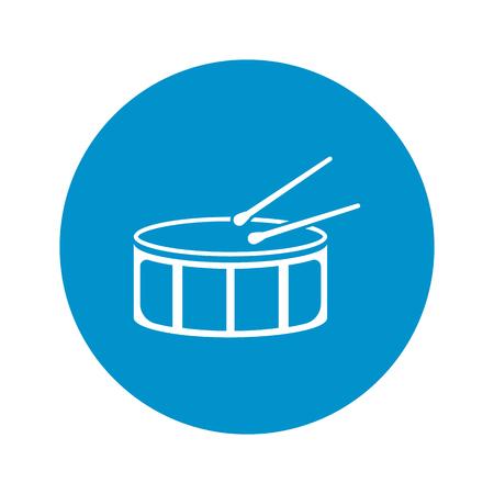 tambor: ilustración vectorial de icono de tambor Vectores