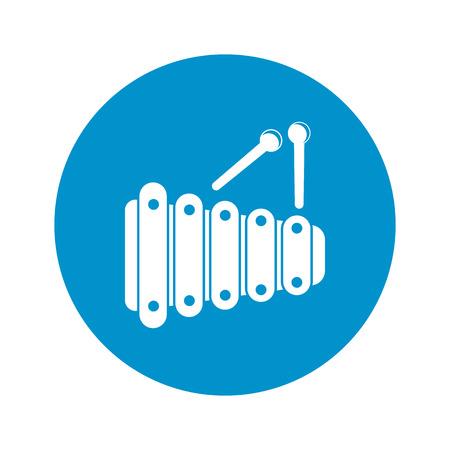xilofono: ilustraci�n vectorial de icono de xil�fono