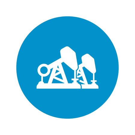 pumping: vector illustration of  oil pumping icon Illustration