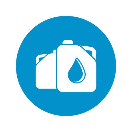 benzine: vector illustration of jerrycan icon Illustration