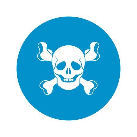 skull icon: vector illustration of skull icon Illustration