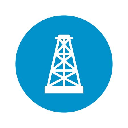 tower: Vector illustration of Oil tower icon Illustration