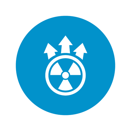nuclear icon: Vector illustration of nuclear icon