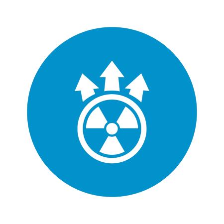 vector nuclear: Vector illustration of nuclear icon